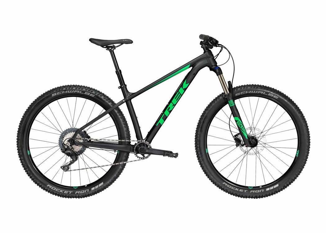"2018 Trek Roscoe 9 27.5""+ Aluminium Rigid Frame - Black/Green"