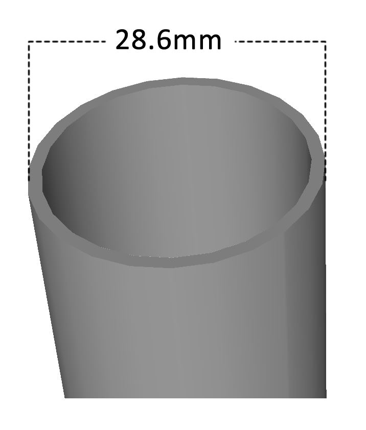 Steer Tube Top OD - 28.6