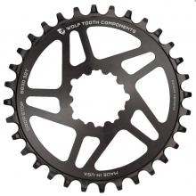 Wolf Tooth Drop-Stop Short Spindle Round Single Chainring - Black
