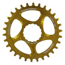 Blackspire/Race Face Snaggletooth Round Single Chainring - Gold
