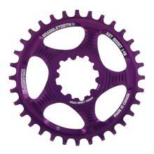 Blackspire Snaggletooth Round Single Chainring - Purple