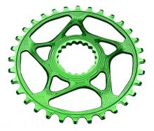 Absolute Black Round Single Chainring - Green