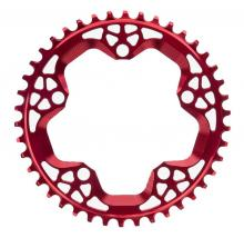 Absolute Black CX Round Single Chainring - Red