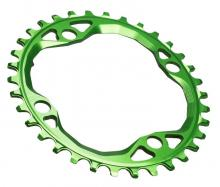 Absolute Black Oval Single Chainring - Green