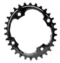 Absolute Black Integrated Threads Oval Single Chainring - Black