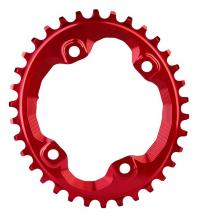 Absolute Black XT FC-M8000 Oval Single Chainring - Red