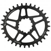 Wolf Tooth Drop-Stop Elliptical Short Spindle Oval Single Chainring - Black