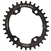 Wolf Tooth Elliptical Oval Single Chainring - Black
