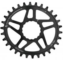 Wolf Tooth Drop-Stop Elliptical Reverse-Dish Oval Single Chainring - Black