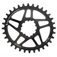 Wolf Tooth Drop-Stop Elliptical Oval Single Chainring - Black