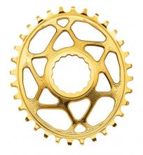 Absolute Black Oval Single Chainring - Gold
