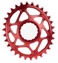 Absolute Black Oval Single Chainring - Red