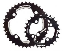 Race Face Turbine Round Inside/Middle/Outside Chainring Set - Black