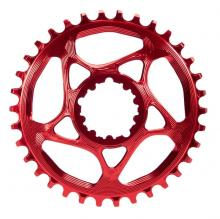 Absolute Black Round Single Chainring - Red