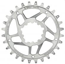 Wolf Tooth Drop-Stop Stainless Steel Round Single Chainring - Silver