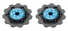 Enduro Bearings ZERO Ceramic Shimano 10spd Pulley Wheels - Black/Blue