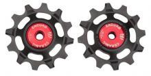 Enduro Bearings ZERO Ceramic XX1 11spd Pulley Wheels - Black/Red