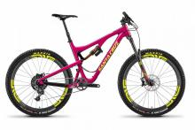 "2016/2017/2018 Santa Cruz Bronson 27.5"" Carbon Fiber Suspension Frame - Pink/Yellow"