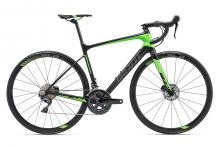 2018 Giant Defy Advanced 1 Pro Disc 700C Carbon Fiber Rigid Frame - Black/Green