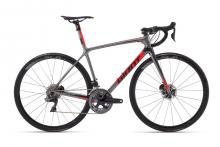 2018 Giant TCR Advanced 0 SL Disc 700C Carbon Fiber Rigid Frame - Grey/Red