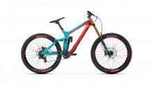 "2018 Rocky Mountain Maiden 90 27.5"" Carbon Fiber/Aluminium Suspension Frame - Blue/Red"