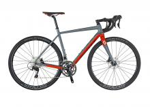 2017/2018 Scott Speedster Gravel 10 Disc 700C Aluminium Rigid Frame - Grey/Red