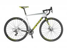 2017/2018 Scott Addict CX RC Disc 700C Carbon Fiber Rigid Frame - White/Grey/Yellow