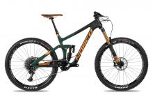 "2017 Norco Range 7.1 C 27.5"" Carbon Fiber Suspension Frame - Black/Green/Orange"