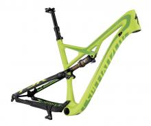 "2015 Specialized Camber S-Works EVO 29"" Carbon Fiber/Aluminium Suspension Frame - Green"