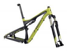 """2011 Specialized Epic S-Works FSR 29"""" Carbon Fiber Suspension Frame - Black/Green"""