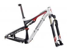 """2011 Specialized Epic S-Works FSR 29"""" Carbon Fiber Suspension Frame - Black/White/Red"""