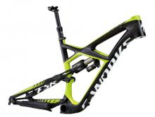 "2014 Specialized Enduro S-Works 27.5"" Carbon Fiber/Aluminium Suspension Frame - Black/Neon Green"