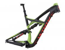 "2016 Specialized Enduro S-Works 27.5"" Carbon Fiber/Aluminium Suspension Frame - Black/Green/Red"
