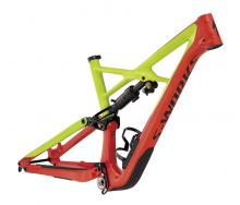 "2017 Specialized Enduro S-Works FSR 29"" Carbon Fiber/Aluminium Suspension Frame - Neon Green/Red"