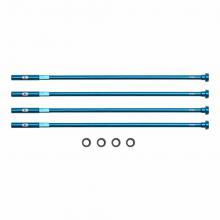 Crank Brothers External Aluminium/Delrin Nipple - Blue