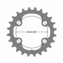 4 bolt - 64 bcd Asymmetric