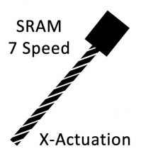 Shift Cable Pull - SRAM 7spd X-Actuation
