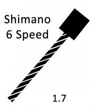 Shift Cable Pull - Shimano 6psd 1.7